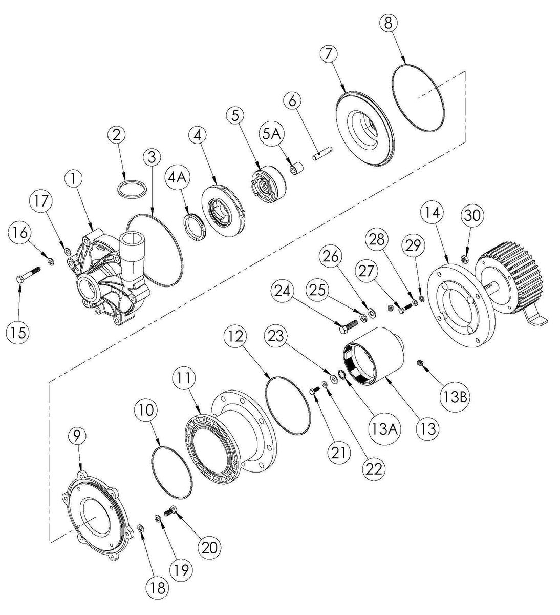 DB6-10 Exp View- Parts List